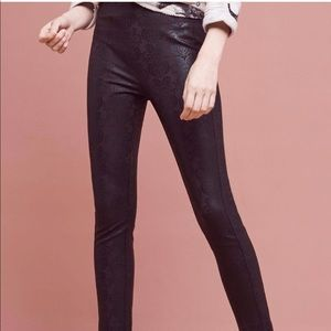 Anthro the essential skinny foil trouser